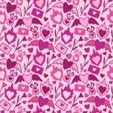 Nahtloses Muster des Valentinstagvektors Stockfoto