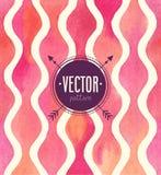 Nahtloses Muster des Vektor-Aquarells Stockfotografie