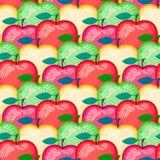 Nahtloses Muster des Vektorapfels Äpfel der verschiedenen Farben Lizenzfreie Abbildung