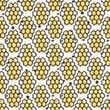 Nahtloses Muster des Vektorbienenhonigs Biohand gezeichnetes Design Lizenzfreie Stockfotografie
