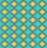 Nahtloses Muster des vektorpixel-Gitters Stockfotos