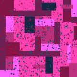 Nahtloses Muster des Vektorrechtecks mit Sprühfarbe Stockfoto