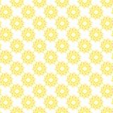 Nahtloses Muster des Vektors der abstrakten Sonnenblume in der unbedeutenden Art stock abbildung