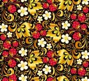 Nahtloses Muster des Vektors in der russischen Art stock abbildung