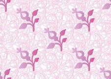 Nahtloses Muster des Vektors des stilisierten Blumenmotivs lizenzfreie abbildung