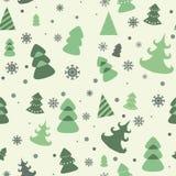 Nahtloses Muster des Vektors des Weihnachtsbaums Lizenzfreie Stockfotos