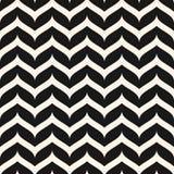 Nahtloses Muster des Vektors, gelockte Zickzacklinien Einfaches horizontales stock abbildung
