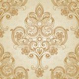 Nahtloses Muster des Vektors im viktorianischen Stil. Lizenzfreie Stockbilder