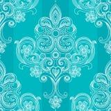 Nahtloses Muster des Vektors im viktorianischen Stil. Stockbild