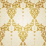 Nahtloses Muster des Vektors im viktorianischen Stil lizenzfreie abbildung