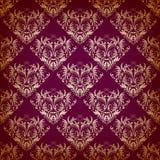 Nahtloses Muster des Vektors im viktorianischen Stil Stockfotografie