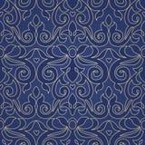 Nahtloses Muster des Vektors im viktorianischen Stil Stockbilder