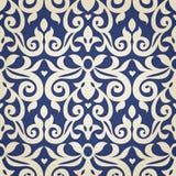 Nahtloses Muster des Vektors im viktorianischen Stil Stockbild