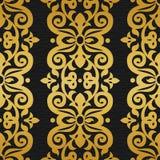Nahtloses Muster des Vektors im viktorianischen Stil Stockfotos