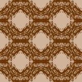 Nahtloses Muster des Vektors mit abstrakten Formen Stockfotografie