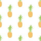 Nahtloses Muster des Vektors mit Ananas Blaues Meer, Himmel u Stockfoto