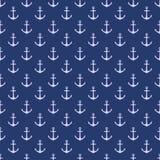 Nahtloses Muster des Vektors mit Anker Stempel mit einem Seethema Marinemuster Vektor Lizenzfreie Stockbilder