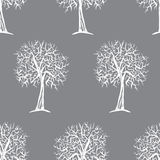 Nahtloses Muster des Vektors mit Baumschattenbildern Lizenzfreie Stockbilder
