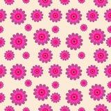Nahtloses Muster des Vektors mit Blumenelementen Stockfotos