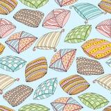Nahtloses Muster des Vektors mit bunten Kissen Beschaffenheit und Tapete Schablone für die Werbung, Gewebe, verpackend Lizenzfreie Stockbilder
