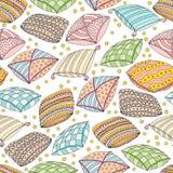 Nahtloses Muster des Vektors mit bunten Kissen Beschaffenheit und Tapete Schablone für die Werbung, Gewebe, verpackend Lizenzfreies Stockfoto