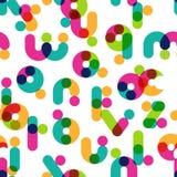 Nahtloses Muster des Vektors mit dekorativem lateinischem Alphabet Lizenzfreies Stockfoto