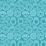 Nahtloses Muster des Vektors mit Diamantikonen Stockfotografie