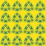Nahtloses Muster des Vektors mit Dreiecken Bunte Beschaffenheit von den Bürstenanschlägen stock abbildung