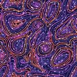 Nahtloses Muster des Vektors mit farbigen Threads Lizenzfreie Stockfotos