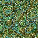 Nahtloses Muster des Vektors mit farbigen Threads Lizenzfreie Stockbilder