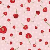 Nahtloses Muster des Vektors mit Fruchtscheiben lizenzfreie abbildung