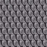 Nahtloses Muster des Vektors mit Gekritzelananas Eigenhändig gezeichnet ep Lizenzfreies Stockfoto