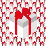 Nahtloses Muster des Vektors mit Geschenkboxen Lizenzfreies Stockbild
