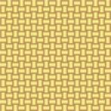 Nahtloses Muster des Vektors mit Golddem spinnen Lizenzfreies Stockfoto