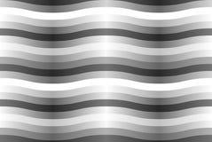 Nahtloses Muster des Vektors mit grauen gewellten Streifen. Stockfotografie