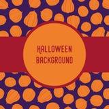 Nahtloses Muster des Vektors mit Halloween silhouettiert Kürbise Lizenzfreies Stockbild