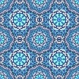 Nahtloses Muster des Vektors mit heller Verzierung Stockbild