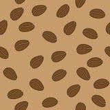 Nahtloses Muster des Vektors mit Kaffeebohnen stock abbildung
