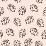 Nahtloses Muster des Vektors mit Kegeln Stockfoto