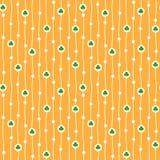 Nahtloses Muster des Vektors mit kleinen Shamrocks Stockfoto