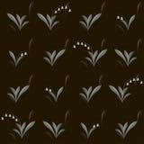 Nahtloses Muster des Vektors mit Maiglöckchen und Schneeglöckchen Lizenzfreies Stockbild