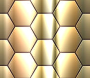 Nahtloses Muster des Vektors mit metallischem hexahedron Stockbild
