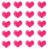 Nahtloses Muster des Vektors mit rosa Herzen Herzdruck Art und Weisebeschaffenheit lizenzfreie abbildung