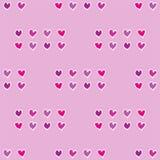 Nahtloses Muster des Vektors mit roten kleinen Herzen stock abbildung