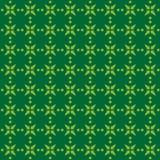Nahtloses Muster des Vektors von Blumenblättern und von Sternen in der abstrakten Art lizenzfreie abbildung