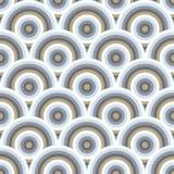 Nahtloses Muster des Vektors von halb Kreisen Stockfotos