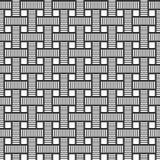 Nahtloses Muster des Vektors von rechteckigen Streifen, gestreifte Rechtecke Geometrisches Gitter Geraden Verflochtene Bänder stock abbildung