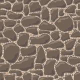 Nahtloses Muster des Vektors von Steinen Stockfoto