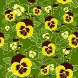 Nahtloses Muster des Vektors von Stiefmütterchenblumen Lizenzfreies Stockbild