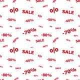 Nahtloses Muster des Verkaufs Lizenzfreie Stockfotografie